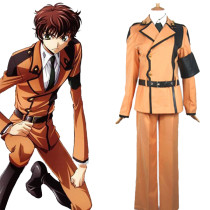 Rulercosplay Code Geass Kururugi Suzaku Uniform Orange Cosplay Costume Wholesaler Resaler