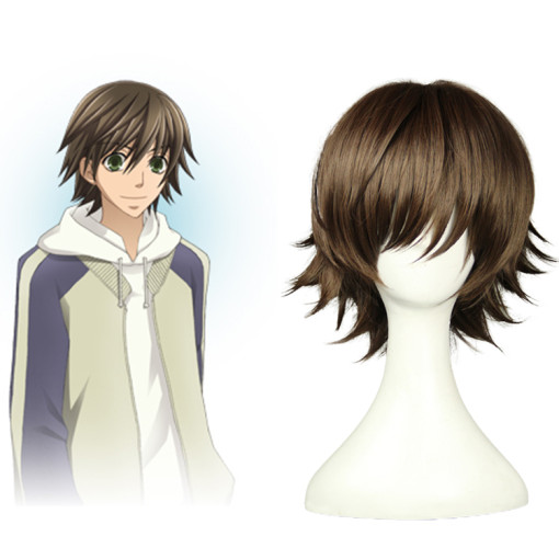 Rulercosplay Junjou Romantica Misaki Takahashi Short Brown Heat Resistant Fiber Cospaly Anime Wigs W