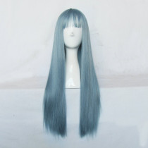 Rulercosplay Long Straight Blue With Gray Harajuku Lolita Wigs Wholesaler Resaler
