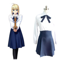 Rulercosplay Fate/Stay Night Saber Polyester Daily Dress Cosplay Costume Wholesaler Resaler