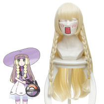 Rulercosplay Fairy treasure dream sun · moon/pet elf day and moon Lillie Long cream yellow Anime Cos