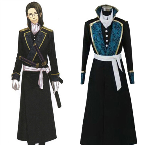 Rulercosplay Hakuouki Shinsengumi Kitan Keisuke Yamanami Black Cosplay Costume Wholesaler Resaler