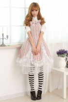 Short Sleeves Knee-length Chocolate Princess Dress Sweet Lolita Dress Customize Anime Cosplay Custom