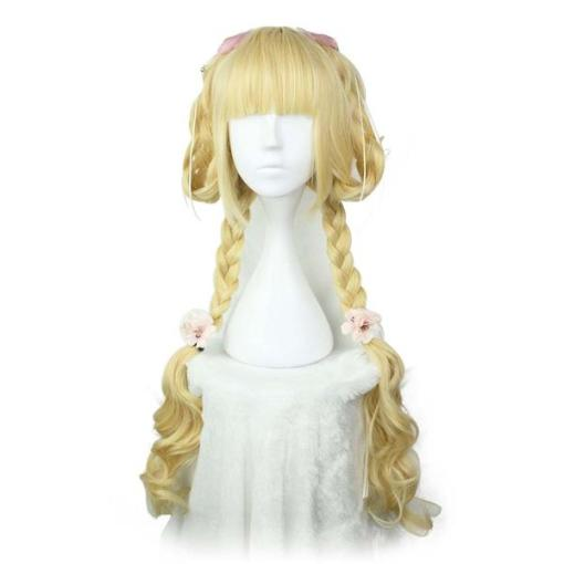 Rulercosplay Sweet Harajuku Original Light Golden Long Curly Lolita Wigs