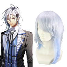 Rulercosplay AMNESIA Ikki Anime Blue Heat Resistant Fiber Medium Cosplay Anime Wigs Wholesaler Resal