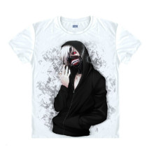 Tokyo Ghoul Fashion Animation White Smooth Cotton T-shirt 046 More Patterns