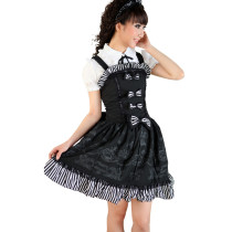 Knee-length Dress with Sling and Shirt Lolita Dress