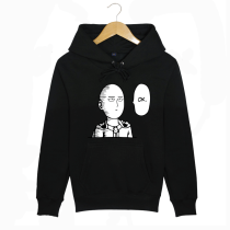 ONE PUNCH MAN Saitama Prints Black Cotton Hoody