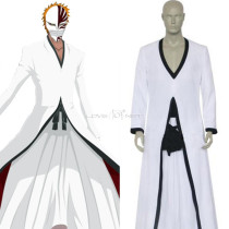 Rulercosplay Bleach Anime Kurosaki Ichigo Hollow White Uniform Cloth Cosplay Costume Wholesaler Resa
