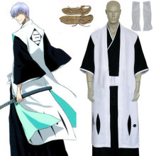 Rulercosplay Bleach 3rd Division Captain Ichimaru Gin White Cosplay Costume Wholesaler Resaler