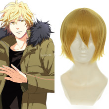 Rulercosplay Heat Resistant Fiber Inspired By Reborn! Dino Medium Golden Anime Wigs Wholesaler Resal