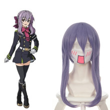 Rulercosplay Seraph Of The End Shinoa Hiragi Medium Length Light Purple Curly Heat Resistant Fiber C