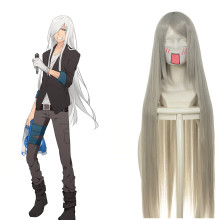 Rulercosplay Heat Resistant Fiber Inspired By Reborn! Superbia Squalo Super Long Silver Anime Wigs W