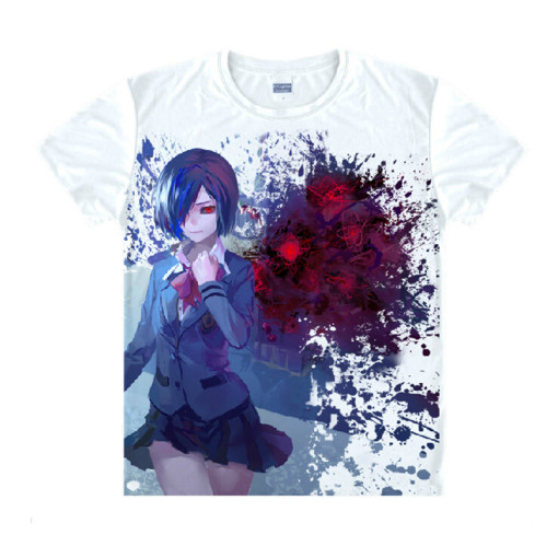 Tokyo Ghoul Fashion Animation White Smooth Decron T-shirt 047 More Patterns