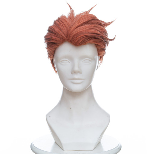 Rulercosplay Overwatch Moira Short Mixed orange Anime Cosplay Wigs