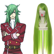 Rulercosplay Heat Resistant Fiber Inspired By Fairy Tail Fried Justine Super Long Green Anime Wigs W