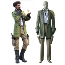 Rulercosplay Final Fantasy XIII Sazh Katzroy Green Cosplay Costume Wholesaler Resaler