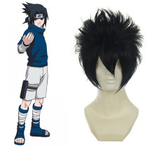 Rulercosplay Naruto Sasuke Uchiha Short Black Cosplay Anime Wigs Wholesaler Resaler
