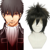 Ruler Cosplay Inspired By Gintama Hijikata Toushirou Heat Resistant Fiber Short Black Anime Cosplay