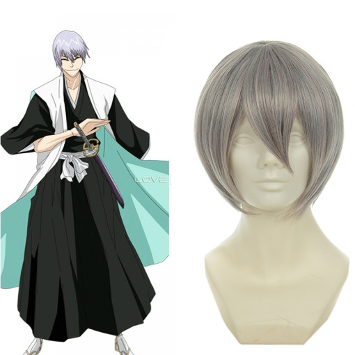 Rulercosplay Bleach Ichimaru Gin Silver Heat Resistant Fiber Short Cosplay Anime Wigs Wholesaler Res