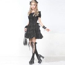 Knee-length Dress with Short Sleeve Sunshine Sweet Lolita Dress
