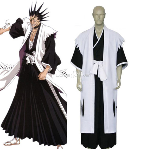 Rulercosplay Bleach 11th Division Captain Zaraki Kenpachi White Cosplay Costume Wholesaler Resaler