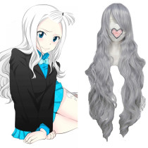 Rulercosplay Heat Resistant Fiber Inspired By Fairy Tail Mirajane·Strauss Super Long Gray Anime Wigs