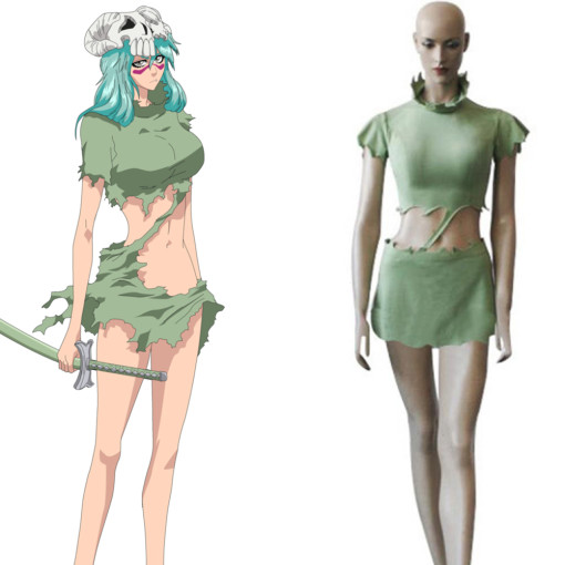 Rulercosplay Bleach Ex-Tercera Espada Nel Tu Green Cosplay Costume Wholesaler Resaler