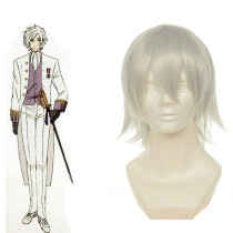 Rulercosplay Heat Resistant Fiber Inspired By Black Butler Angela Short Silver Anime Wigs Wholesaler