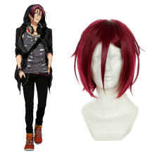 Rulercosplay Heat Resistant Fiber Inspired By Free! Rin Matsuoka Short Purple Anime Wigs Wholesaler
