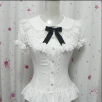 Doll Colar Short Sleeves Princess Style Slim Chiffon Sweet Lolita Blouses