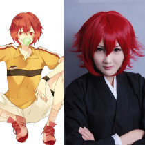 Rulercosplay Heat Resistant Fiber Inspired By The Prince Of Tennis Bunta Marui Short Red Anime Wigs