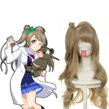 Rulercosplay LoveLive!White Day Minami Kotori Flaxen Long Wave Cosplay Anime Wigs Wholesaler Resaler