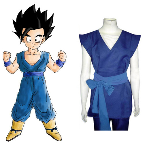 Rulercosplay Dragon Ball Son Gohan Blue Cosplay Costume Wholesaler Resaler