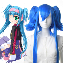 Rulercosplay Heat Resistant Fiber Inspired By Macross Series Kuran Super Long Blue Anime Wigs Wholes