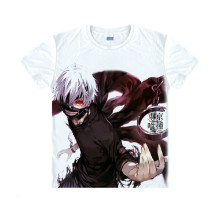 Tokyo Ghoul Fashion Animation White Smooth Decron T-shirt 019 More Patterns