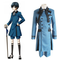 Rulercosplay Black Butler Uniform Cloth Ciel Blue Cosplay Costume Wholesaler Resaler