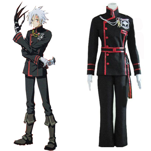 Rulercosplay D Gray-Man Allen Walker 3rd Uniform Black Cosplay Costume Wholesaler Resaleor