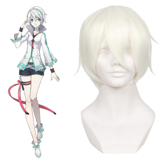 Rulercosplay VOCALOID Yan He White Short Cosplay Anime Wigs Wholesaler Resaler