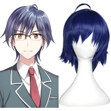 Rulercosplay Cute High Earth Defense Club Love! Kinugawa Atsushi Short Blue Heat Resistant Fiber Cos