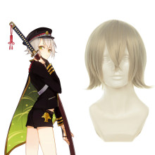 Rulercosplay Touken Ranbu Online Hotarumaru Gray Short Heat Resistant Fiber Cosplay Anime Wigs Whole