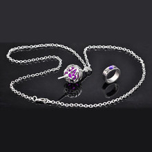 Kyoko Sakura Card-packed Round Kernel Cosplay Necklace and Ring Wholesale Resale