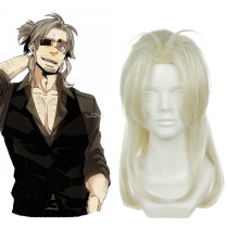 Rulercosplay GANGSTA Arcangelo Worick Heat Resistant Fiber Milk White Medium Cosplay Anime Wigs Whol