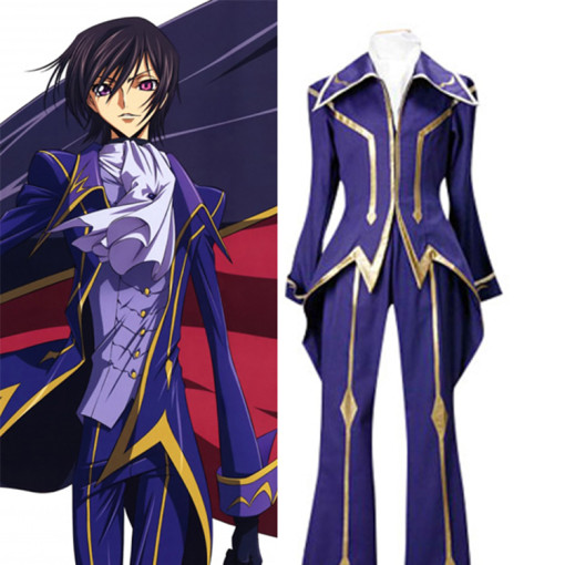 Rulercosplay Code Geass Lelouch Zero Purple Cosplay Costume Wholesaler Resaler