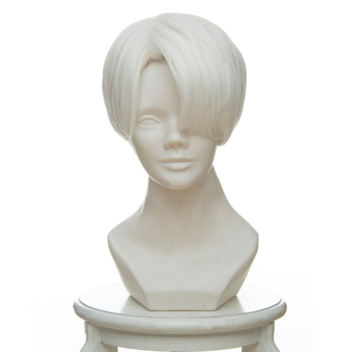 Rulercosplay Land of the Lustrous Cairngorm Short White Anime Cosplay Wigs