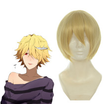 Rulercosplay Durarara Cosplay Kida Masaomi Yellow Wig Short Heat Resistant Fiber 35cm Anime Wigs Who