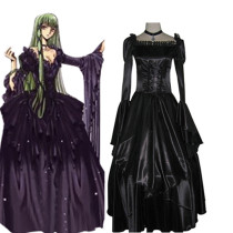 Rulercosplay Code Geass C.C Black Dress Black Cosplay Costume Evening Dress Wholesaler Resaler