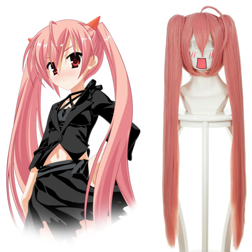 Rulercosplay Hidan No Aria Riko Mine Pink Heat Resistant Fiber Long Straight Cosplay Wigs Wholesaler