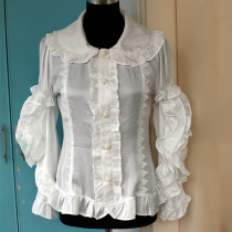 Lovely Thin Chiffon Takedown Sleeves Lolita White Blouse