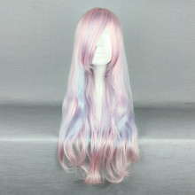 Rulercosplay Long Curly Pink With Blue Lolita Fashion Wigs Wholesaler Resaler